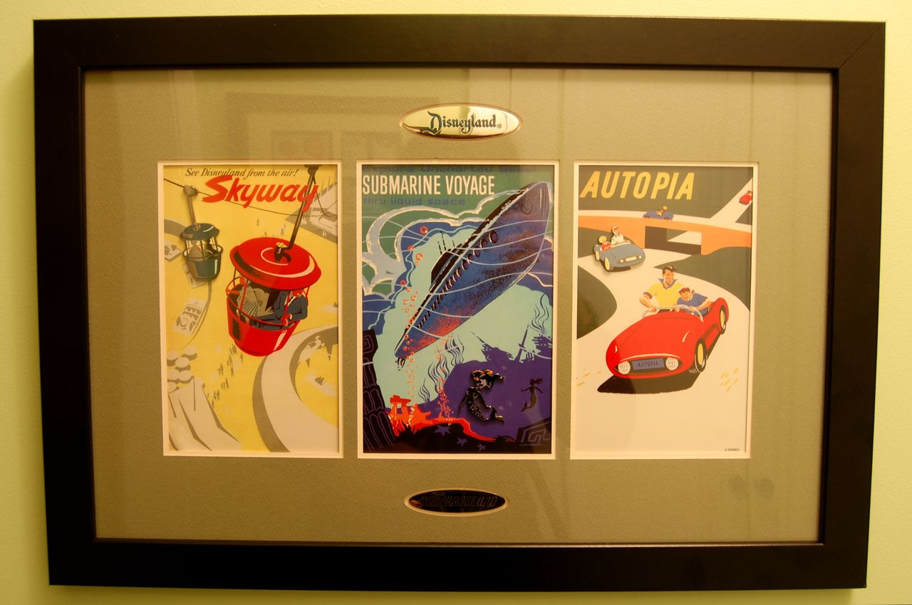 Mouseplanet - Disney Stuff - Tomorrowland Framed Pin Set by Chris Barry