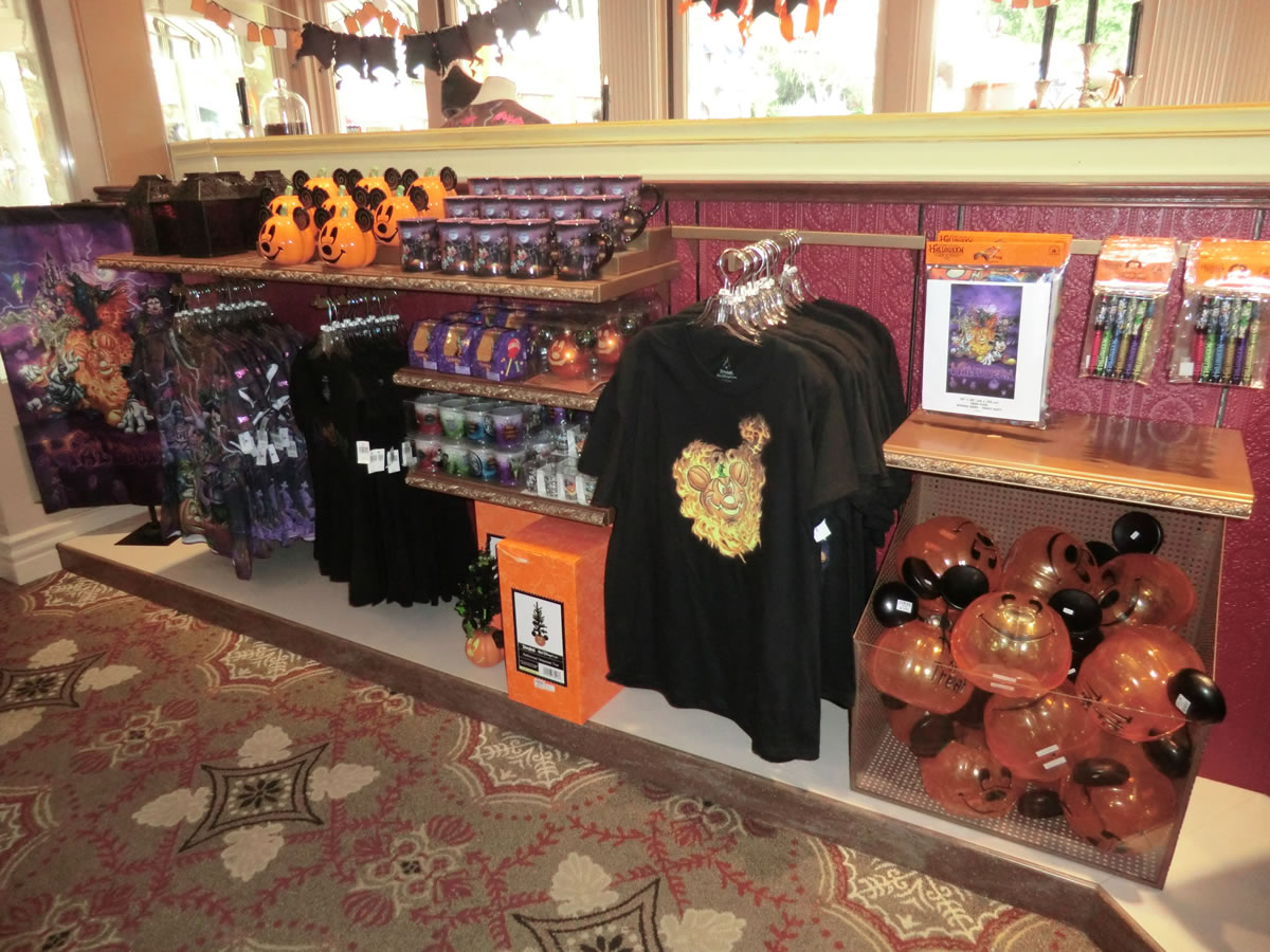 a mix of old and new halloween merchandise is available throughout disneyland photo by adrienne vincent phoenix