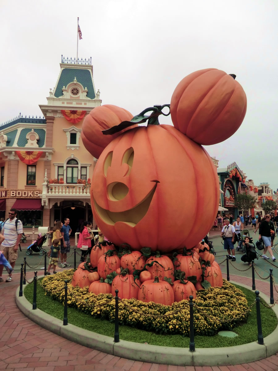 Pumpkin Mickey Is In Place On Main Street USA Photo By Adrienne Vincent Phoenix