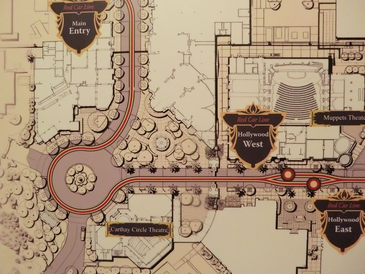 Mouseplanet disneyland resort update by adrienne vincent phoenix this blueprint from the blue sky cellar shows the new footprint of the west block stores photo by adrienne vincent phoenix malvernweather Images