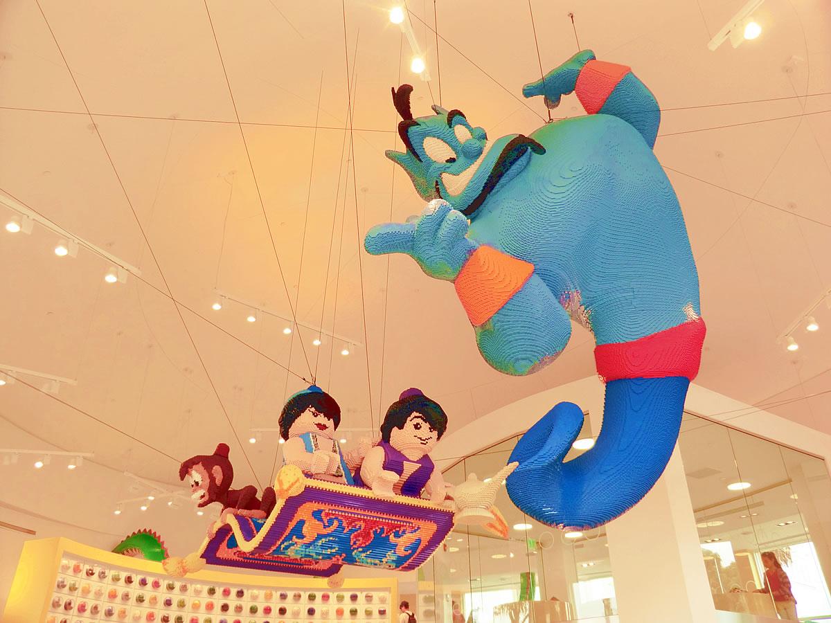 Aladdin Lego Sculpture