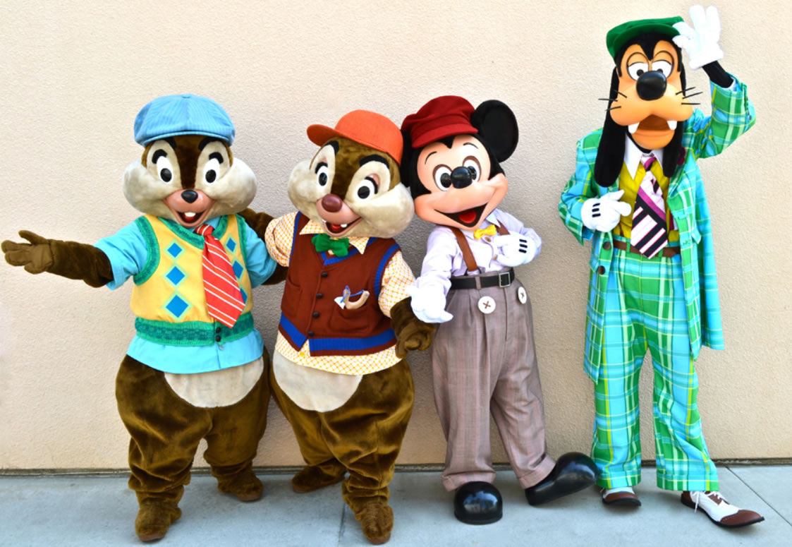 all about characters at disneyland and california adventure - HD1123×775