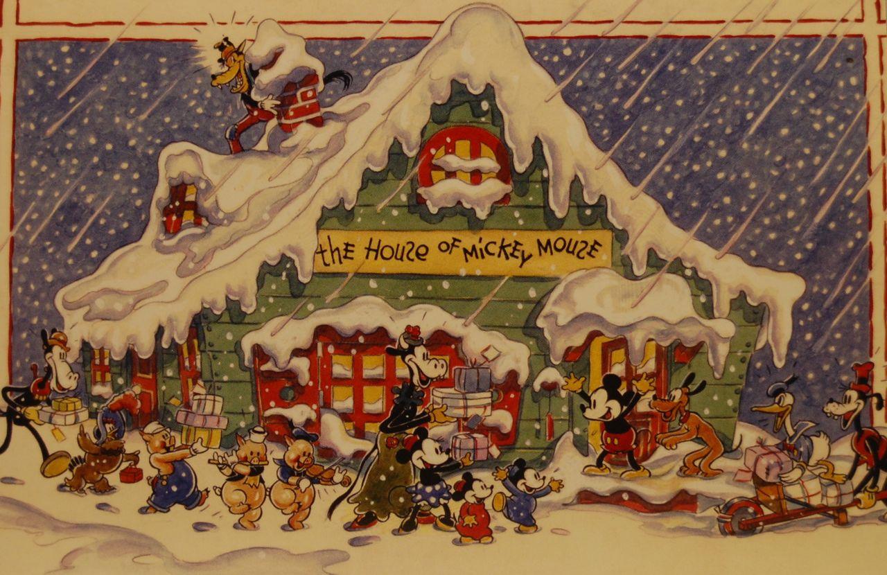 the 1935 walt disney company christmas card photo by chris barry