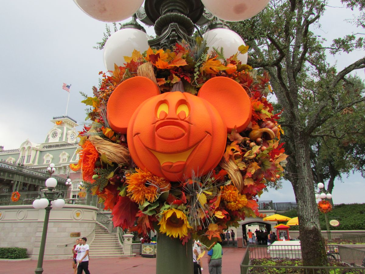 the first of the halloween decorations are going up in the magic kingdom photo by jeff kober - Disney World Halloween Decorations