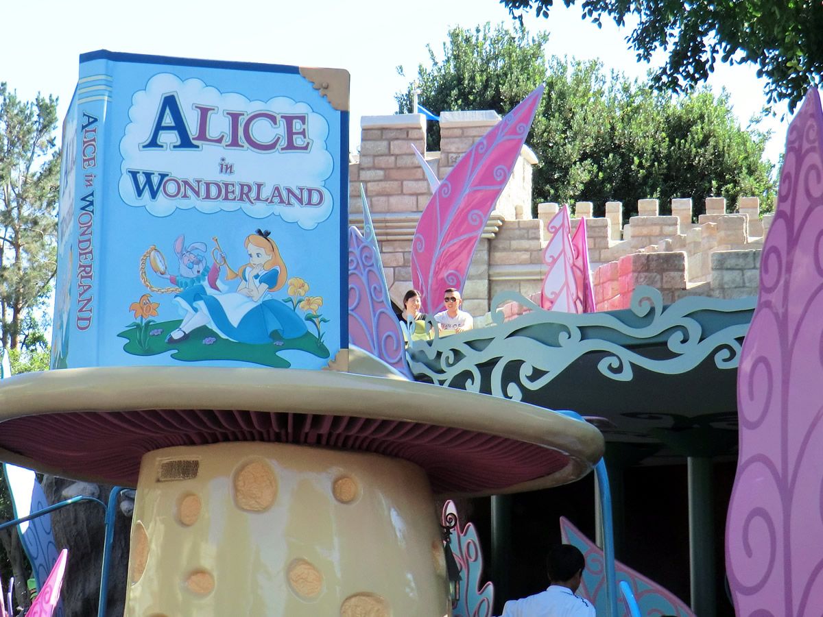 disneyland resort update by adrienne vincent phoenix the alice in wonderland ride which reopened last week now sports new visual effects and a low profile fall protection system