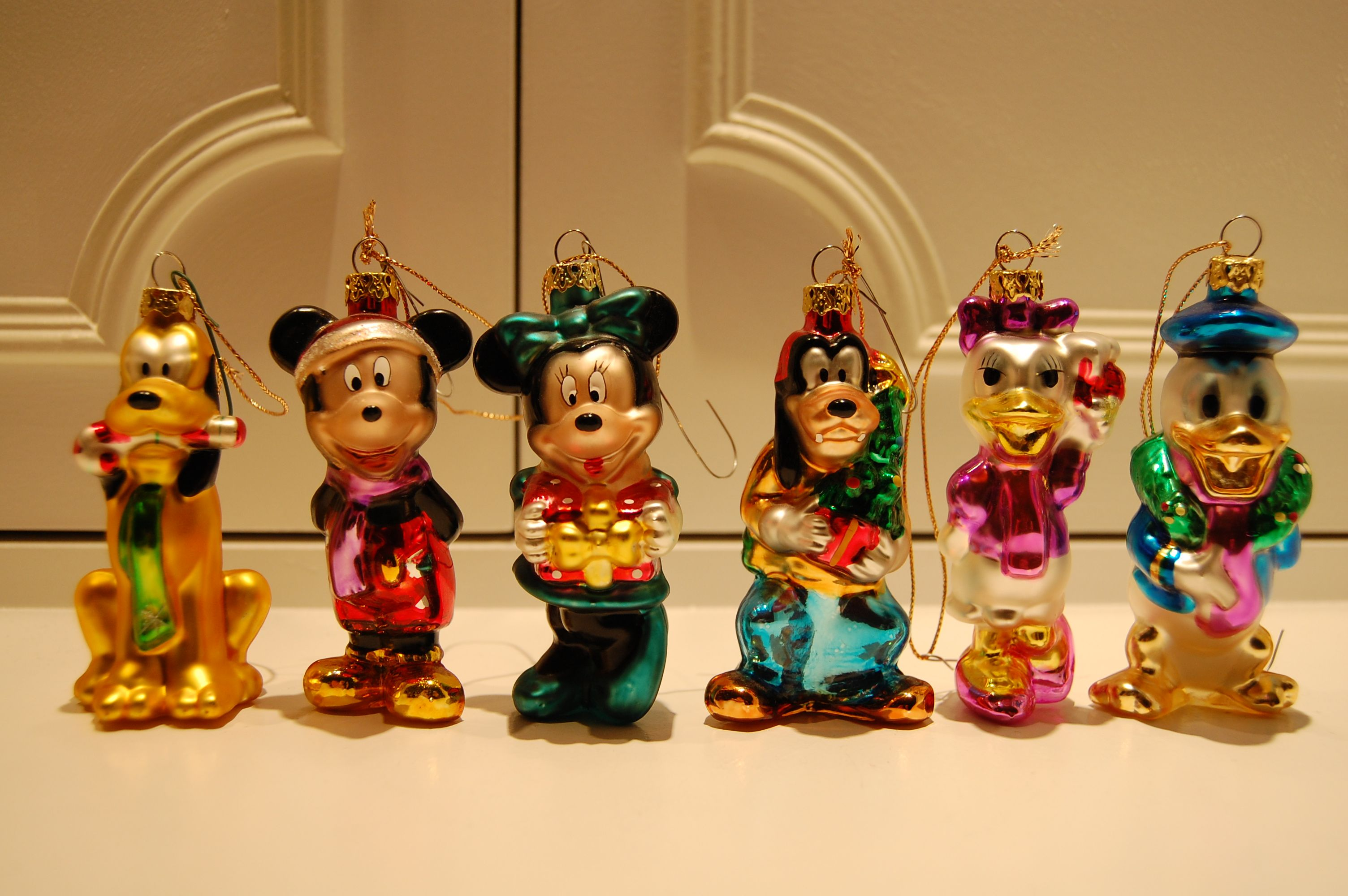Disney ornament sets - The Full Set Of Blown Glass Ornaments Photo By Chris Barry