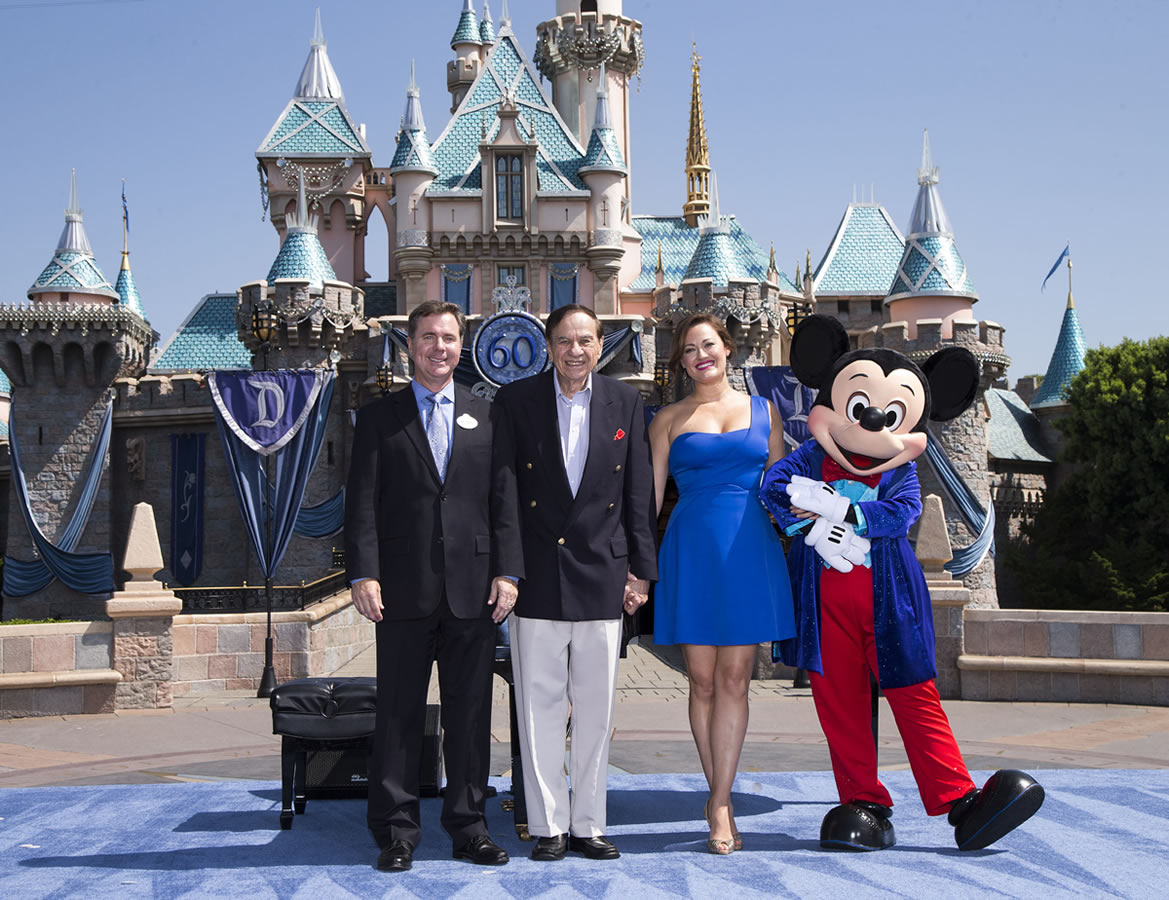 Mouseplanet disneyland resort update for july 21 26 2015 by disneyland resort president michael colglazier richard sherman ashley brown and mickey mouse celebrated disneylands 60th anniversary during a ceremony at publicscrutiny Images