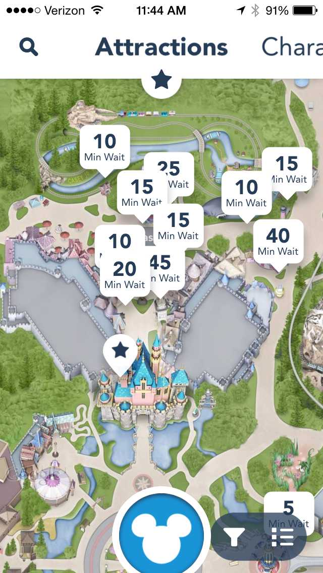 Mouseplanet App Review Disney Releases Official Disneyland App