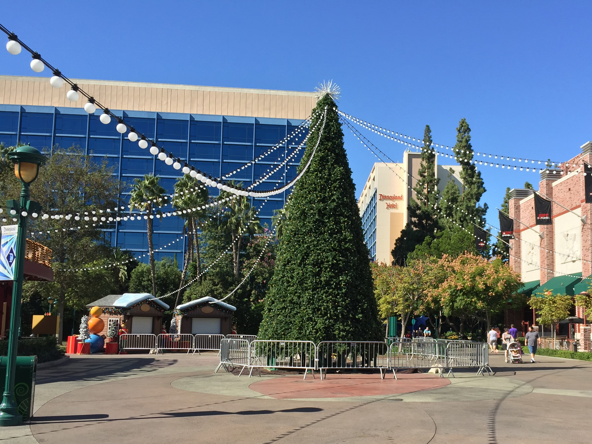 the downtown disney christmas tree was installed last week the ice rink will be installed after the tree is decorated photo by adrienne vincent phoenix - Downtown Disney Christmas