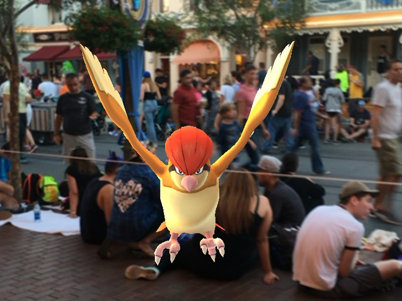 Playing Pokemon Go at the Disney parks