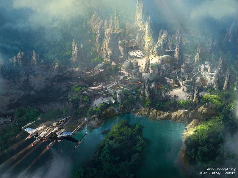 New Disneyland Concept Art Revealed for Star Wars Land