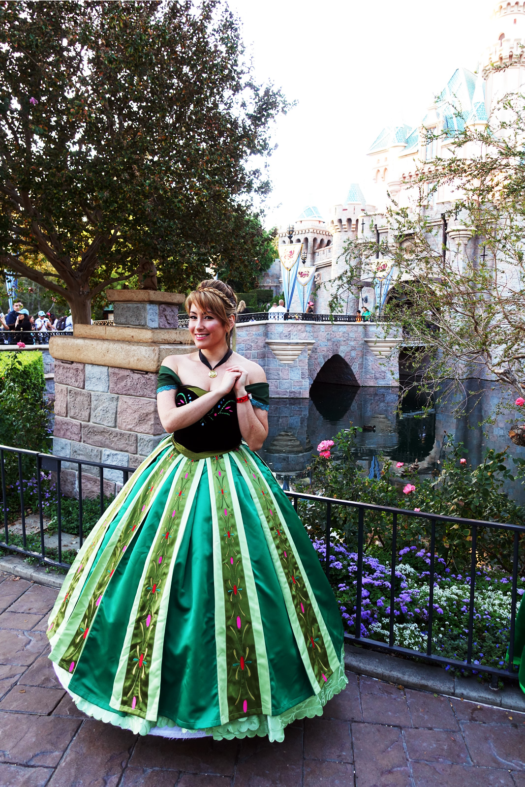this visitor donned a full anna gown for her visit to mickeys halloween party photo by adrienne vincent phoenix