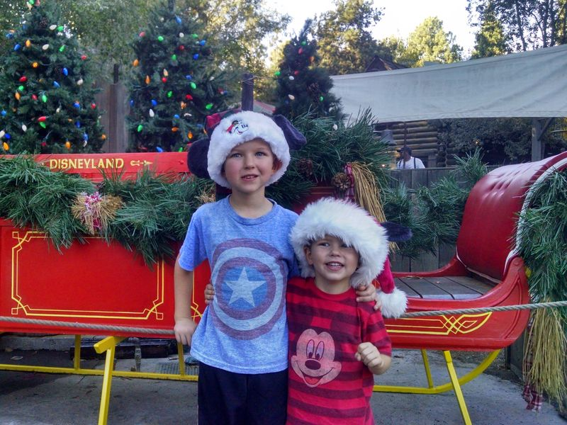 A Holiday Evening With Kids at Disneyland Park