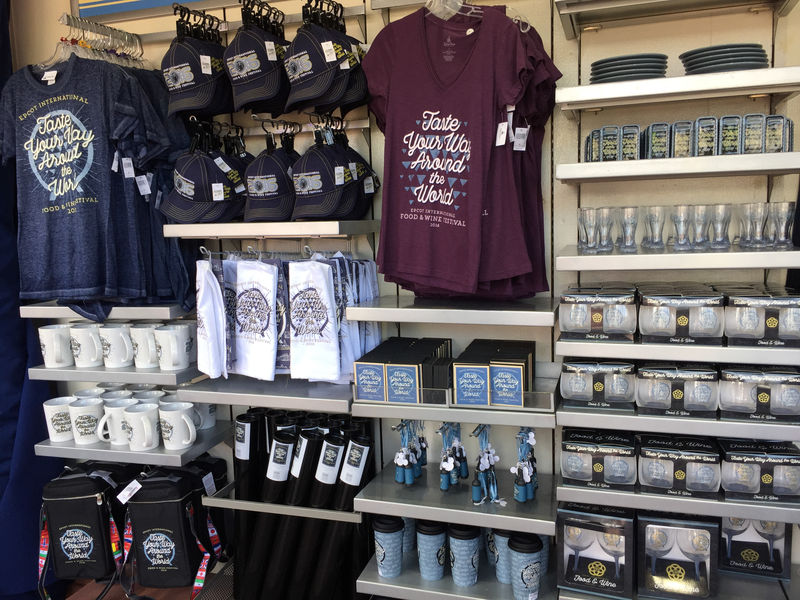 Merchandise at the Epcot Food and Wine Festival