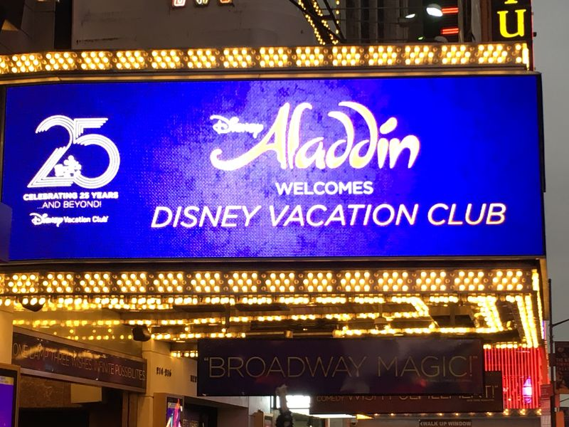 A Whole New World, a Special Disney Vacation Club Performance of 'Aladdin' on Broadway