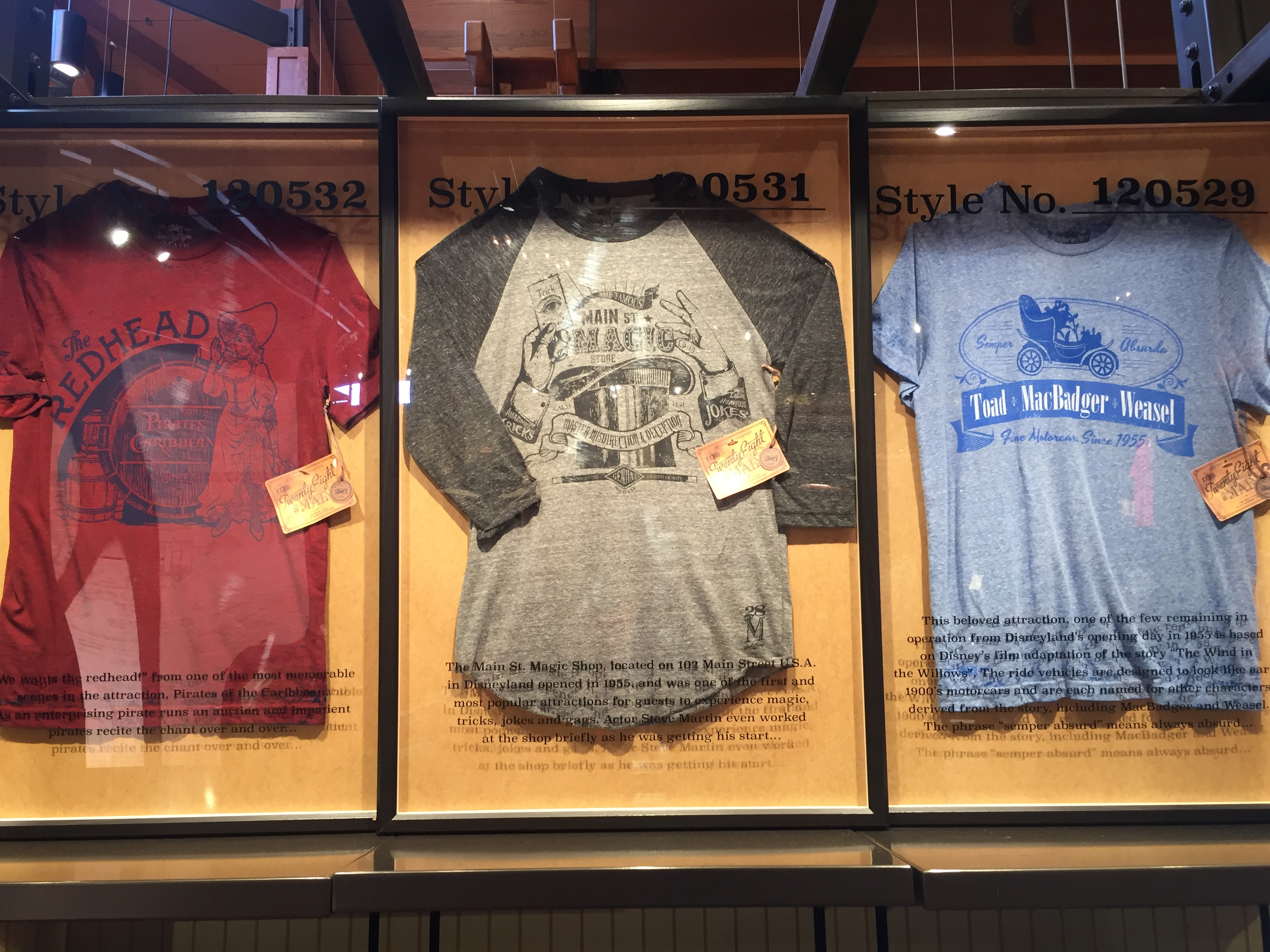 7572cfcba Twenty Eight & Main has a great assortment of vintage-style T-shirts based  on park attractions. Photo by Gregg Jacobs.