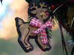 Detail:  rudolph ornament from santa's reindeer roundup wreath (say that 3x fast)