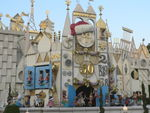 The biggest Sants hat around on the clock face of it's a small world
