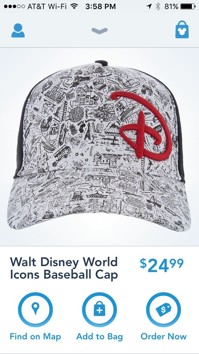 ab56540f1ec This great Walt Disney World Icon hat will announce to the world where you  love to vacation (and also sells on the Shop Disney Parks app).