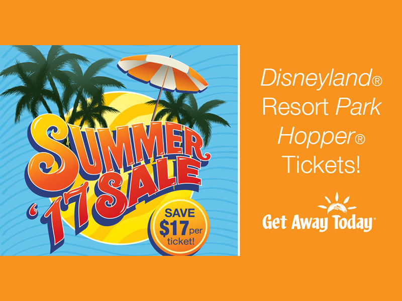 Take $17 off all 3-day Disneyland Resort Park Hopper tickets for one week only