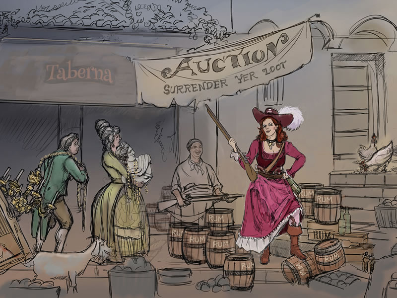 The Redhead to Have New Role in Pirates of the Caribbean Attractions