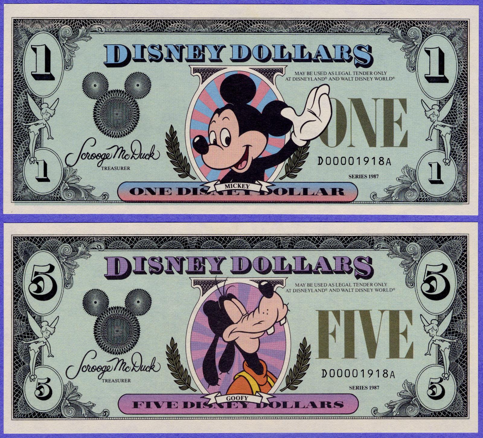 Disney Mickey Mouse Million Dollar Bill