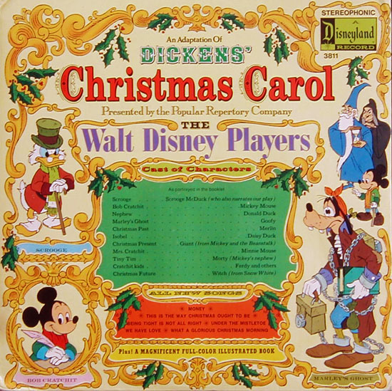 disneys 1983 animated adaptation of a christmas carol was based upon a 1975 record performed by the walt disney players - Mickeys Christmas Carol