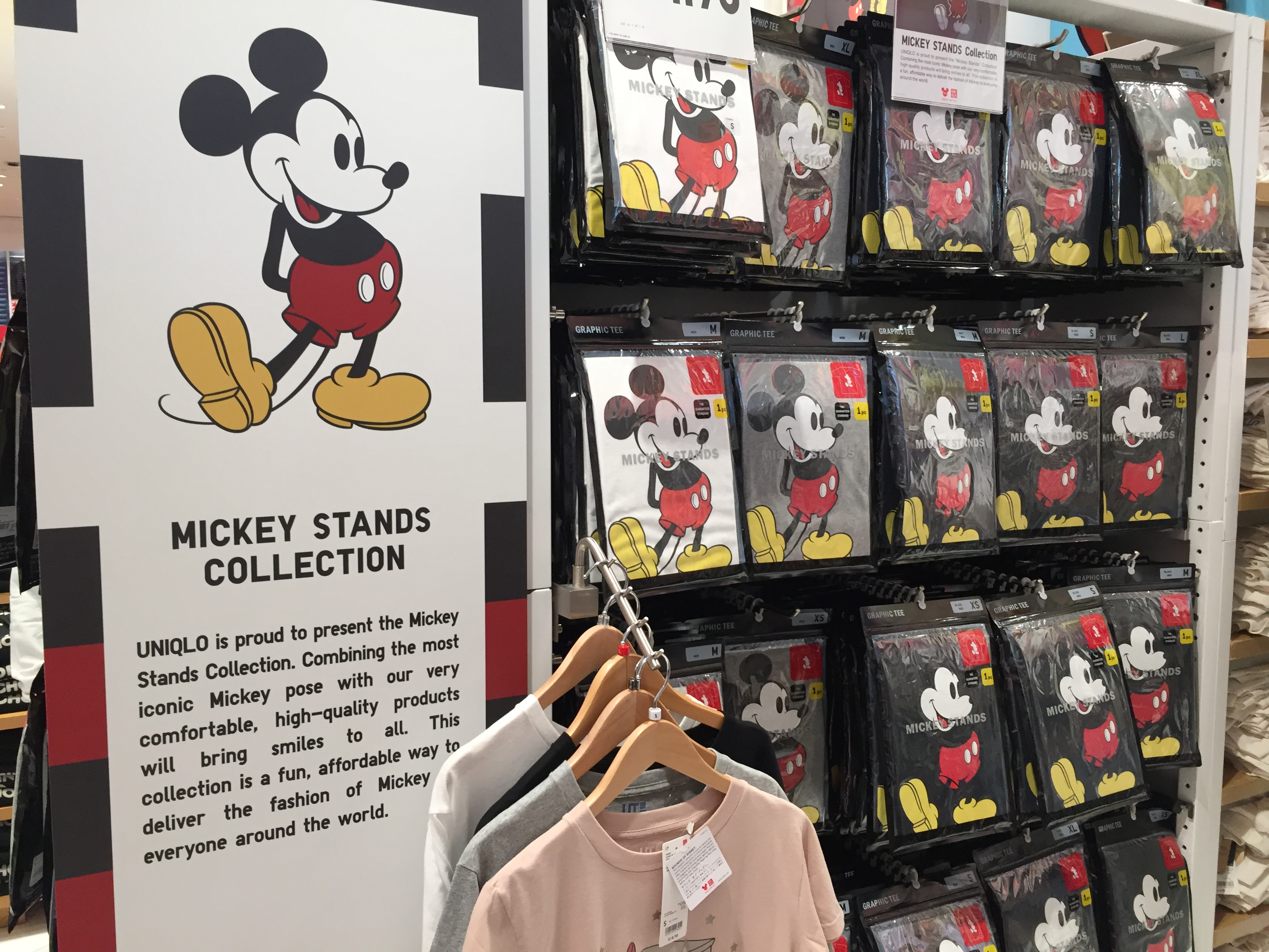 cd73d4610 Mickey Stands is an example of a Uniqlo collection with a classic Disney  spin. Photo by Gregg Jacobs.