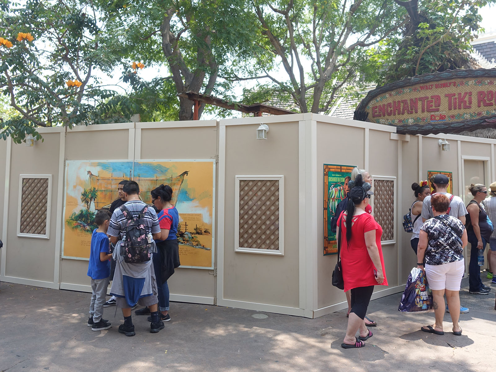 Work Walls Surround A Portion Of The Enchanted Tiki Room