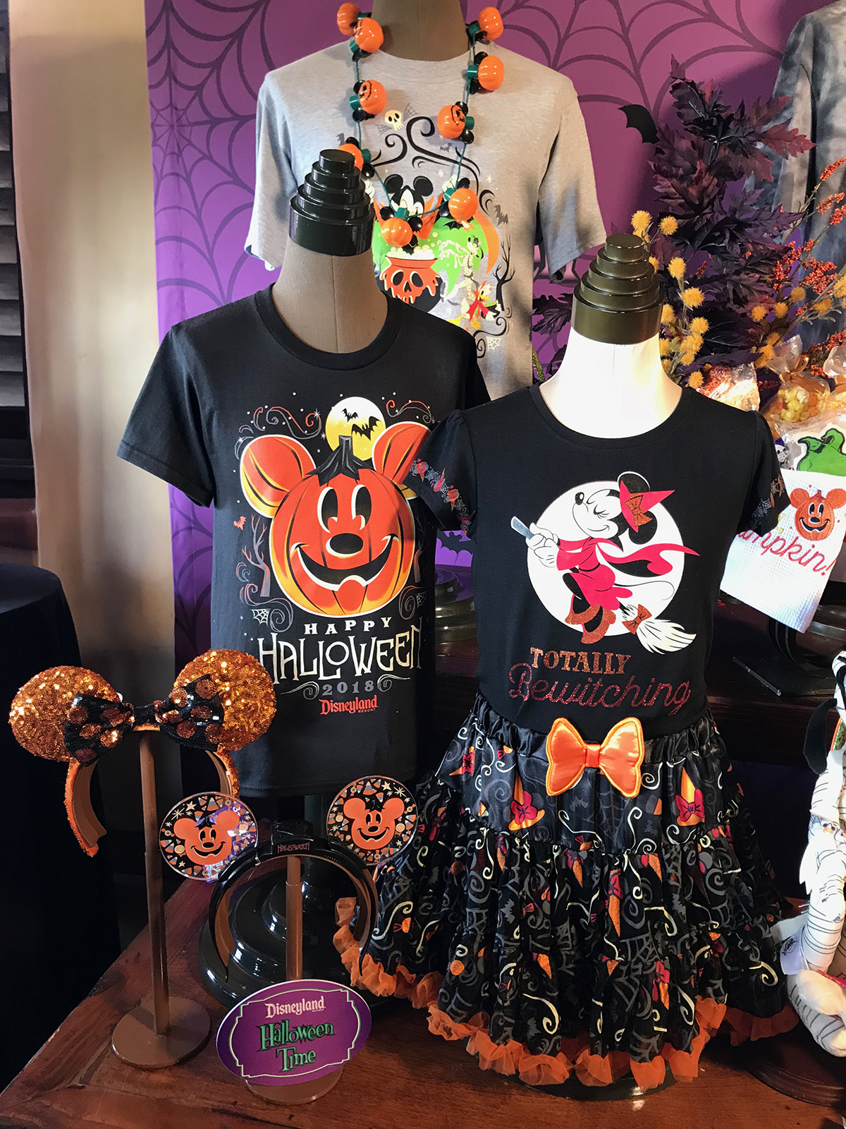 a sampling of the halloween time merchandise available around the disneyland resort photo by adrienne vincent phoenix