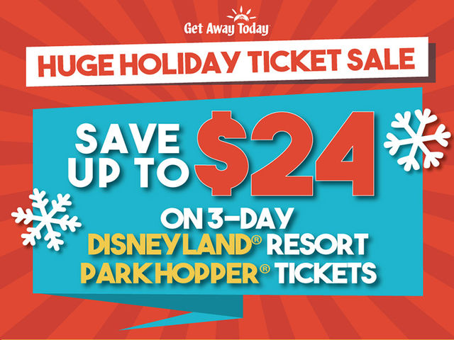 EXTENDED: $24 off 3-Day Disneyland Resort Park Hopper Tickets