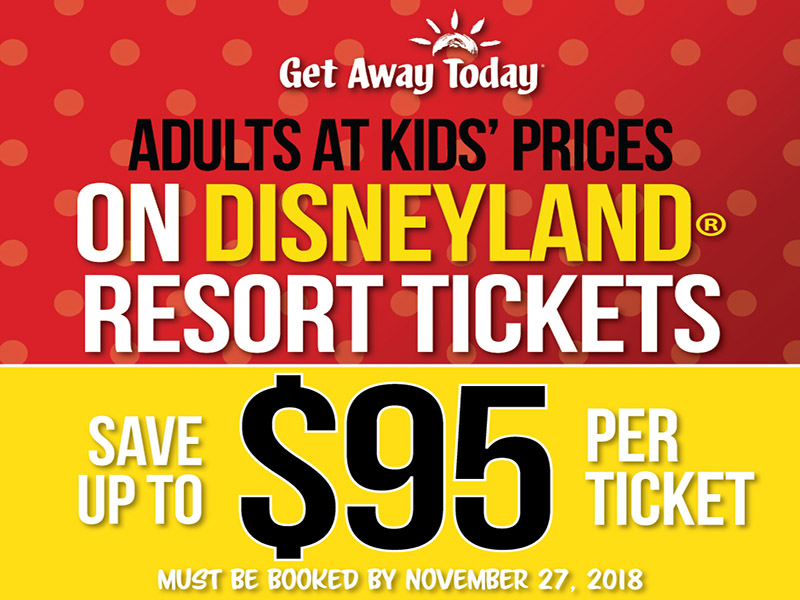 Black Friday Sale: Adults at Kids Prices on Disneyland Resort Tickets through 2019