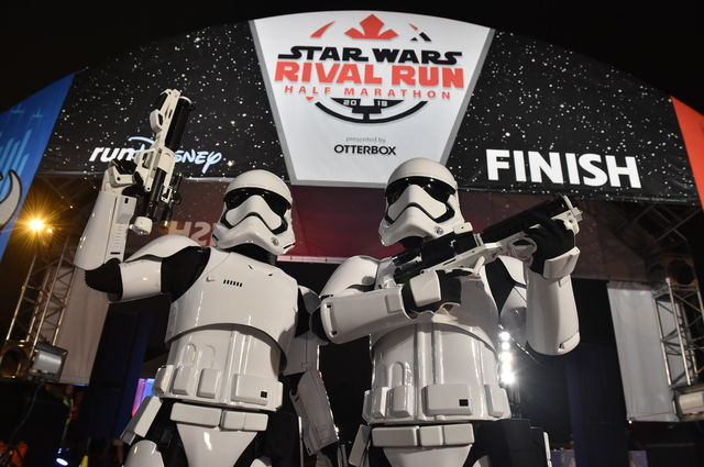 Stormtroopers at the Rival Run finish line
