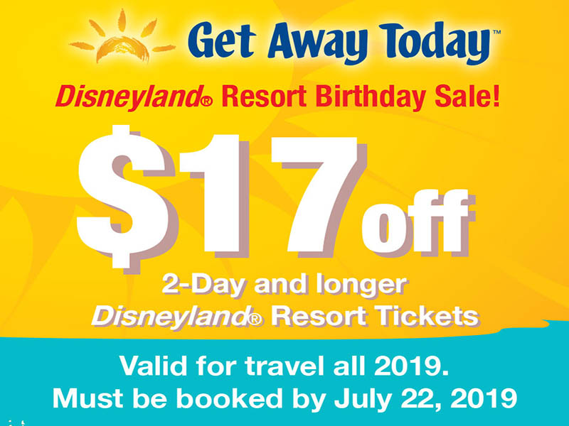 Take $17 off all multi-day Disneyland Resort Park Hopper tickets this week only!