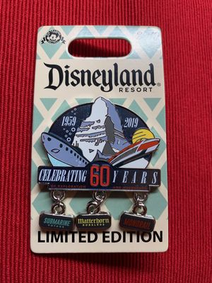 Disneyland Attractions 60th anniversary pin