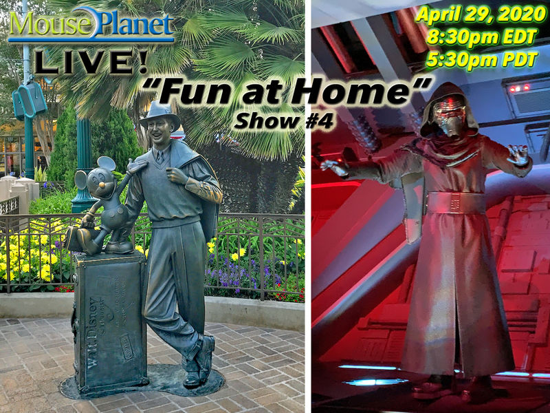 Fun at Home Show #4: A MousePlanet LIVE Stream