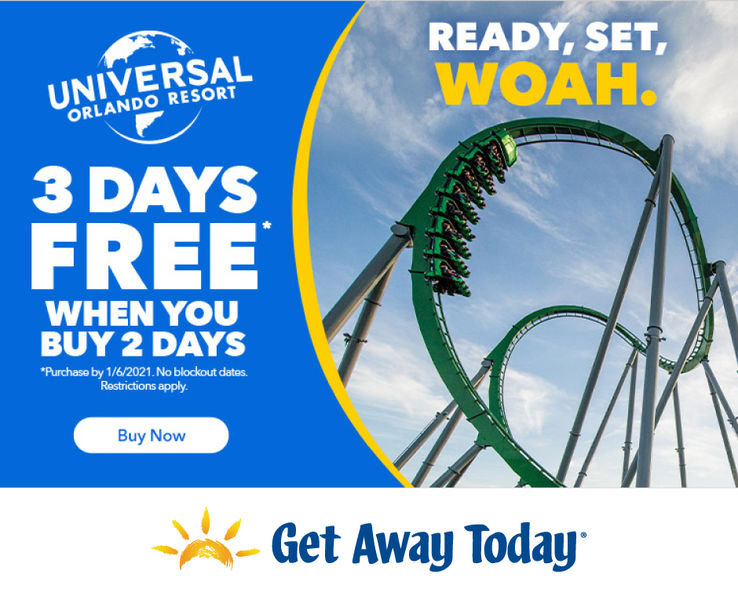 Get Away Today Universal Orland Resort Ticket Offer