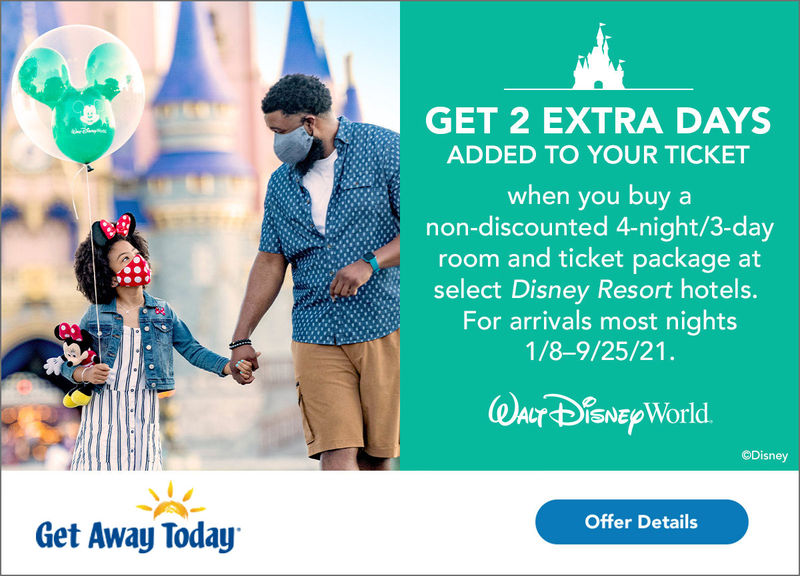 Get Away Today can help you book Disney's latest promotional offers