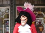 Captain Hook meet and greet in Town Square area. Photo taken 1/13/03. Photo by Alex Stroup.