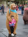 Meet and greet with one of the Country Bears in Town Square area. Photo taken 1/13/03. Photo by Alex Stroup.