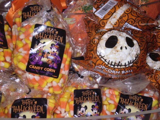 Candy corn and Jack Skellington popcorn balls to satisfy a Halloween sweet-tooth. Photo by Shoshana Lewin.