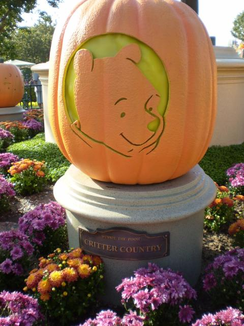 Representing Critter Country is Winnie the Pooh in pumpkin form. Photo by Shoshana Lewin.