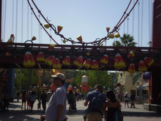 More candy corn decorates the Golden Gate Bridge. Photo by Shoshana Lewin.