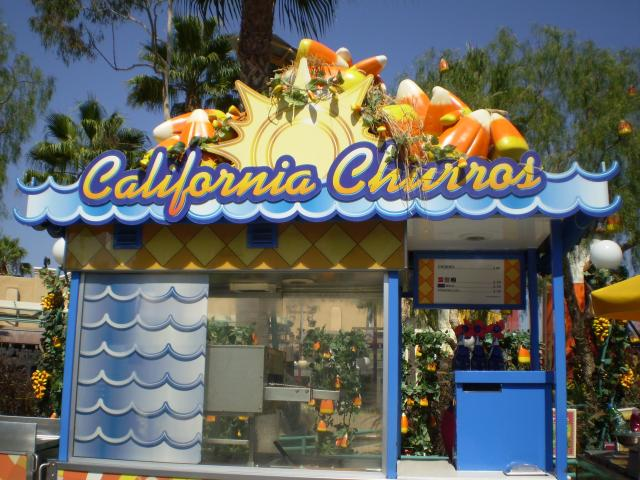 Even the California Churros cart is decorated. Photo by Shoshana Lewin.