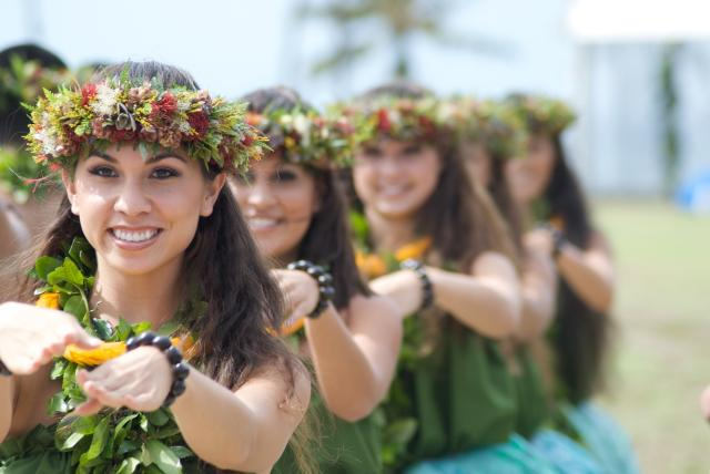 Hula performances conclude the groundbreaking ceremony for the Disney Resort at Ko Olina. Photo by Joe Philipson.