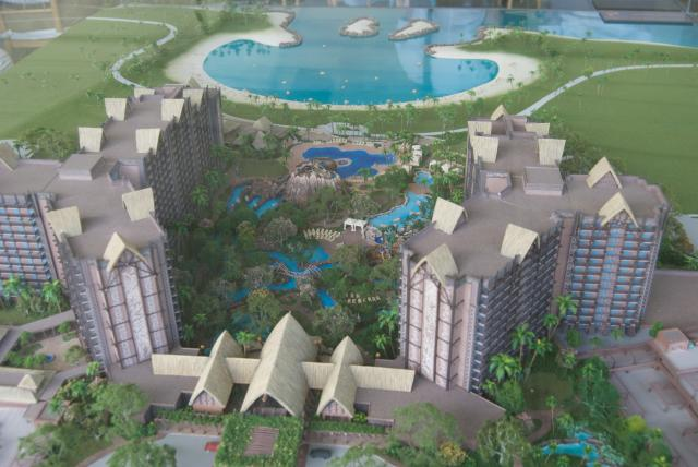 An intricate scale model of the planned DisneyResort at Ko Olina. Photo by Joe Philipson.