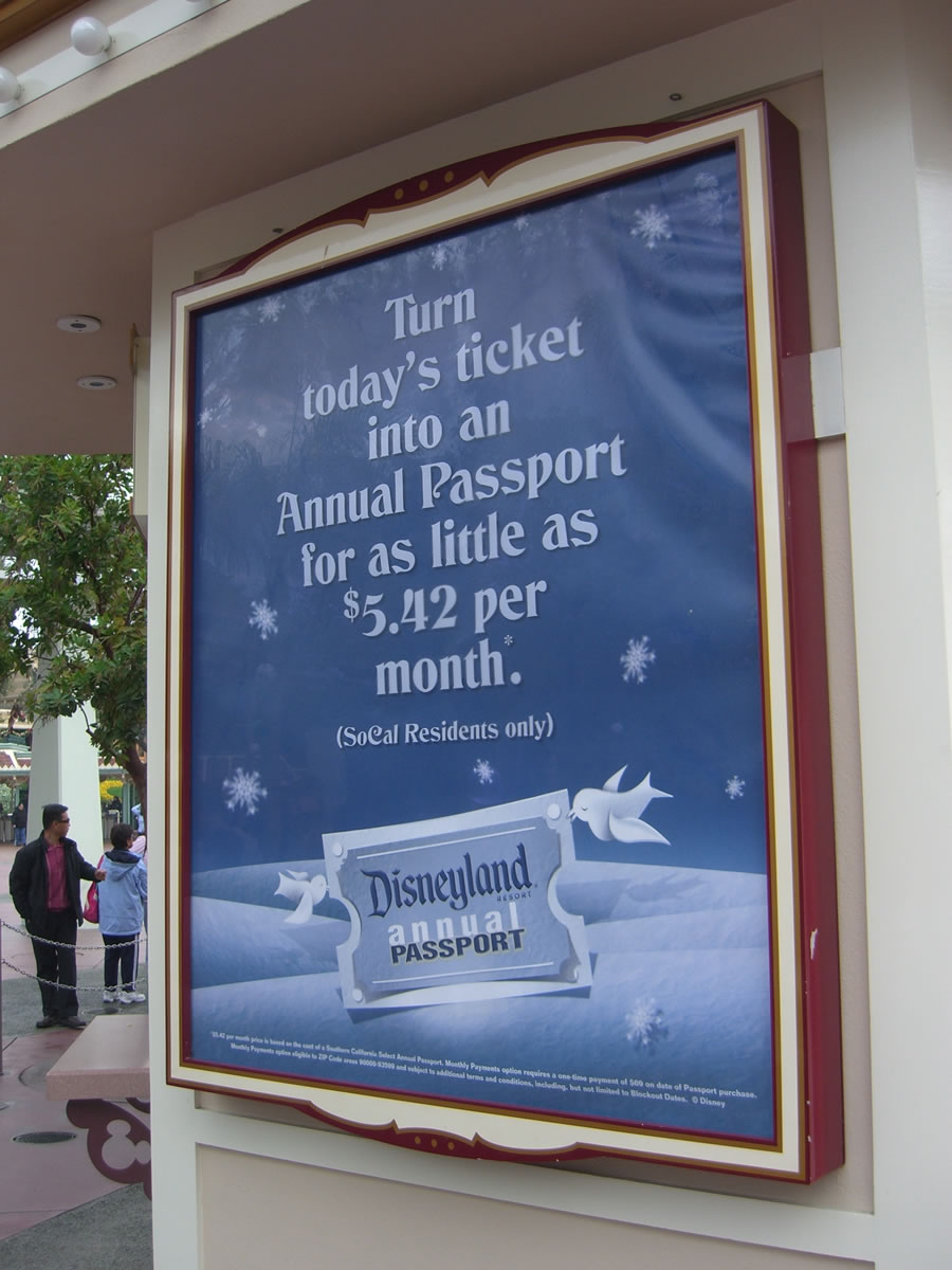 The Disneyland Resort now offers a monthly-payment plan for Annual Passports. Photo by Adrienne Vincent-Phoenix.