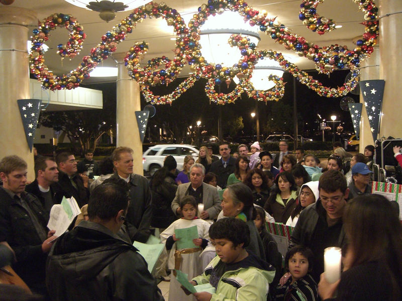 The Posada stops at the Disneyland Hotel. Photo by Adrienne Vincent-Phoenix.
