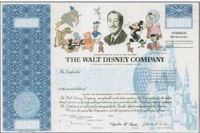 Mouseplanet Disney Stuff The Ultimate Disney Collectible by – Stock Certificate Example