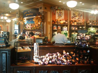 Halloween has fully taken over the Disney Showcase shop. Photo by Cindy Stephens.